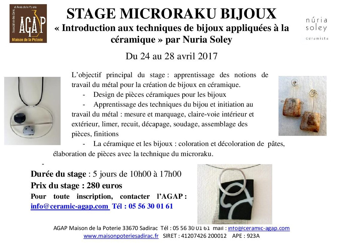 Visuel stage Nuria Soley avril 2017 /